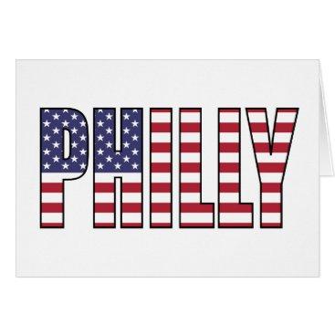 USA Themed Philadelphia Card