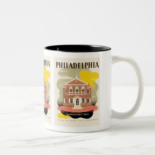 Philadelphia Carpenter's Hall Two-Tone Coffee Mug