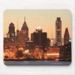 Philadelphia céntrica, Pennsylvania en la puesta d Tapete De Ratón