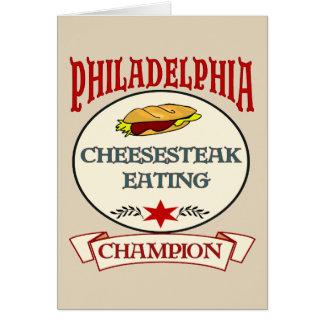 Philadelphia Cheese Steak Eating Champ Card