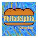 Philadelphia Cheese Steak 5.25x5.25 Square Paper Invitation Card