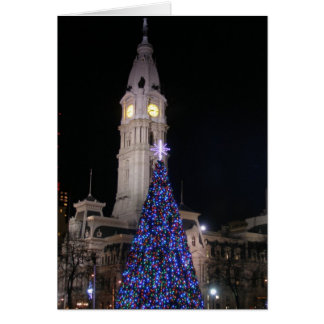 Philadelphia City Hall at Christmas Greeting Cards