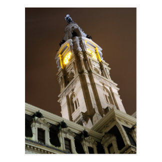 Philadelphia City Hall at Night Postcard