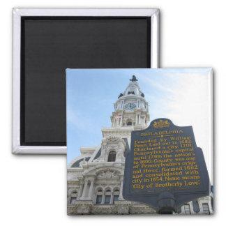 Philadelphia City Hall Square Magnet