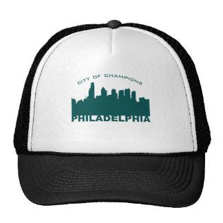 Philadelphia: City of Champions Green Trucker Hats