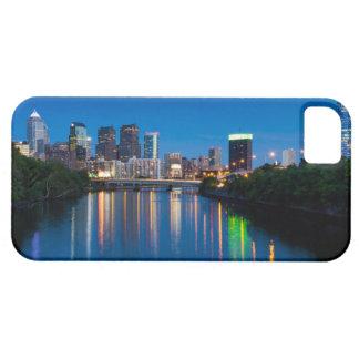 Philadelphia City Skyline at Night Phone Case