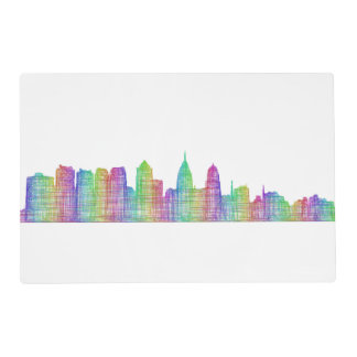 Philadelphia city skyline placemat