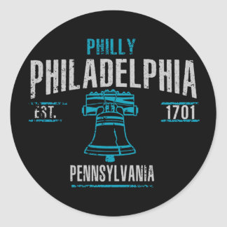 Philadelphia Classic Round Sticker