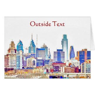 Philadelphia Color Sketch Card