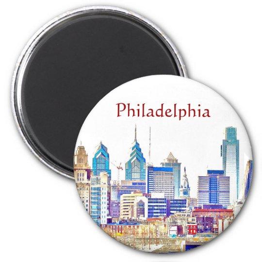 Philadelphia Color Sketch Magnet