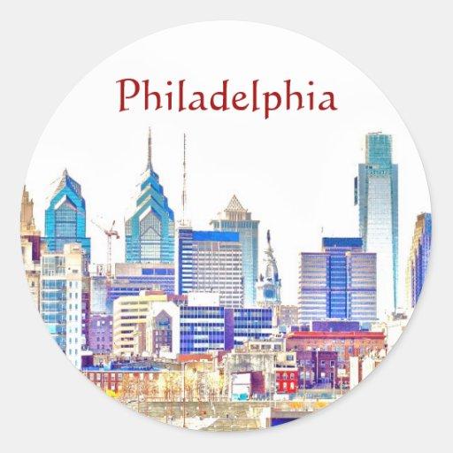 Philadelphia Color Sketch Sticker