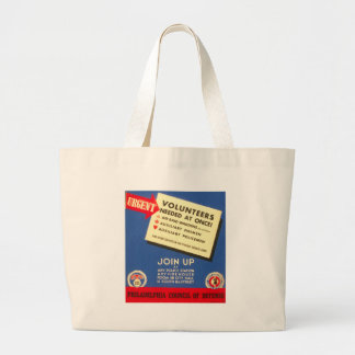 Philadelphia Council Of Defense  Join now - Large Tote Bag