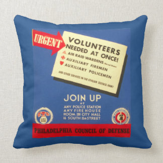 Philadelphia Council Of Defense  Join now Throw Pillow