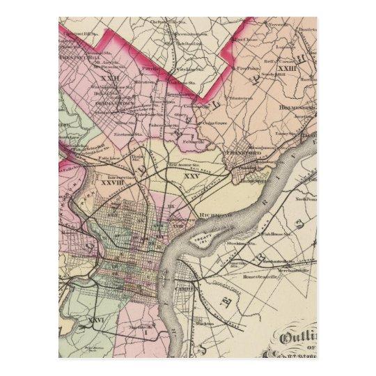 Philadelphia County, City Postcard