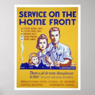 Philadelphia Defense - Service on home front - WPA Poster