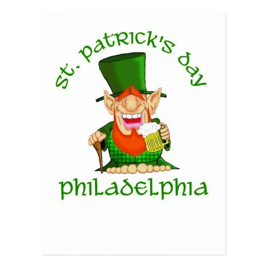 ~ Philadelphia del día del St Patricks Tarjetas Postales