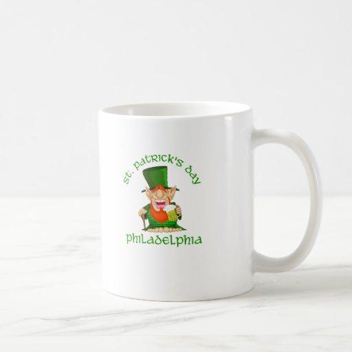 ~ Philadelphia del día del St Patricks Taza De Café