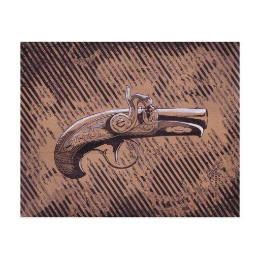 Philadelphia Derringer pistol Stretched Canvas Print