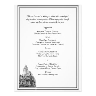 Philadelphia Destination Wedding Menu Flyer