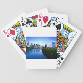 Philadelphia downtown 3 bicycle playing cards