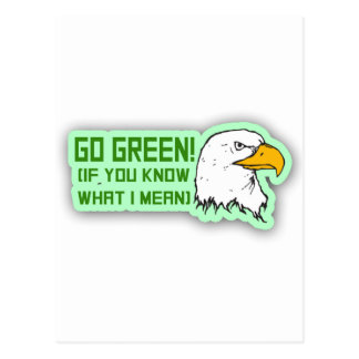 Philadelphia Eagles Go Green Postcard