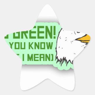 Philadelphia Eagles Go Green Star Sticker