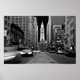 Philadelphia en el poster de la noche