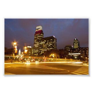 Philadelphia en la impresión de la foto de la