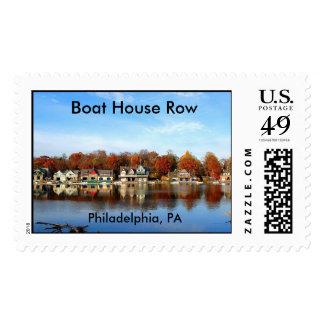 Philadelphia, fila de la casa barco del PA Timbres Postales