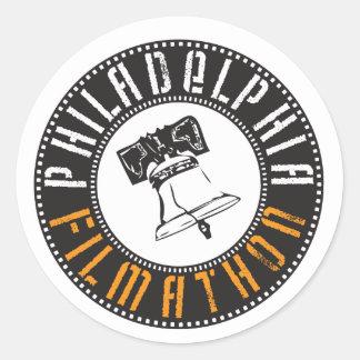 Philadelphia Filmathon Pegatina Redonda