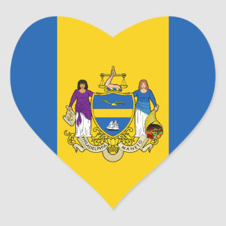 Philadelphia Flag Heart Sticker