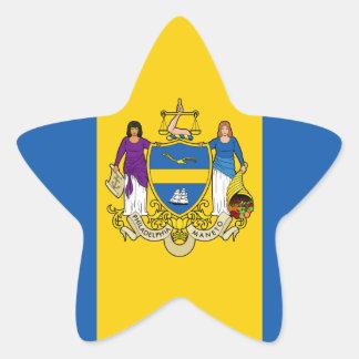 Philadelphia Flag Star Sticker