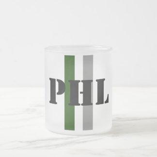 Philadelphia Frosted Glass Coffee Mug