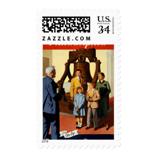 Philadelphia. Go by... Pennsylvania Railroad Postage Stamp