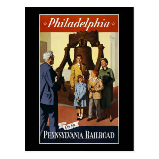 Philadelphia Go by Pennsylvania Railroad Postcards