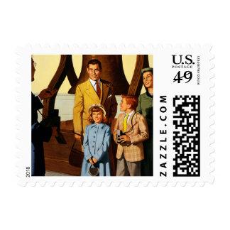 Philadelphia. Go by... Pennsylvania Railroad Stamp