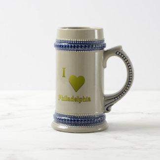 Philadelphia -- Gold Beer Stein