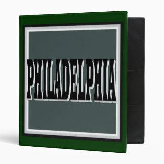 Philadelphia Green Square Binder