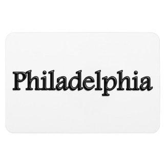 Philadelphia - Grey Letters - On White Magnet