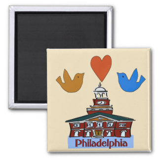 Philadelphia Heart Bird,  Colonial Independence Ha Magnet