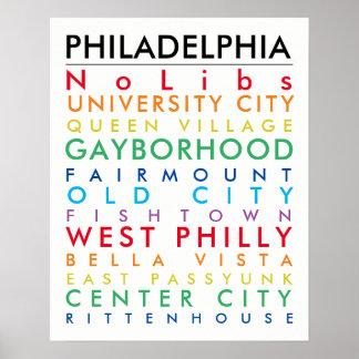 Philadelphia hoods 16x20 pride poster