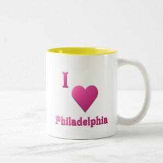 Philadelphia -- Hot Pink Two-Tone Coffee Mug