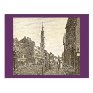 Philadelphia in 1800 Postcard
