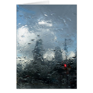 Philadelphia in Downpour Card
