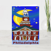 Philadelphia Independence Hall Starry Night cards