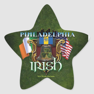 Philadelphia Irish Pride Star Sticker