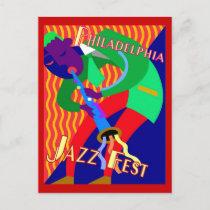 Philadelphia Jazz Fest postcards
