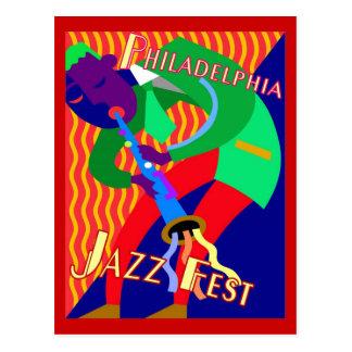 Philadelphia Jazz Fest Postcard