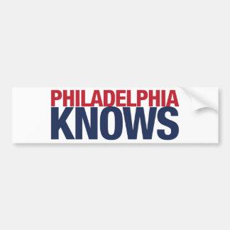 Philadelphia Knows Bumper Sticker