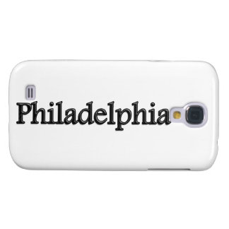 Philadelphia - letras grises - en blanco funda para galaxy s4